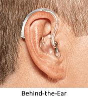 BTE hearing aid at Hearing Solutions in Greensboro, NC